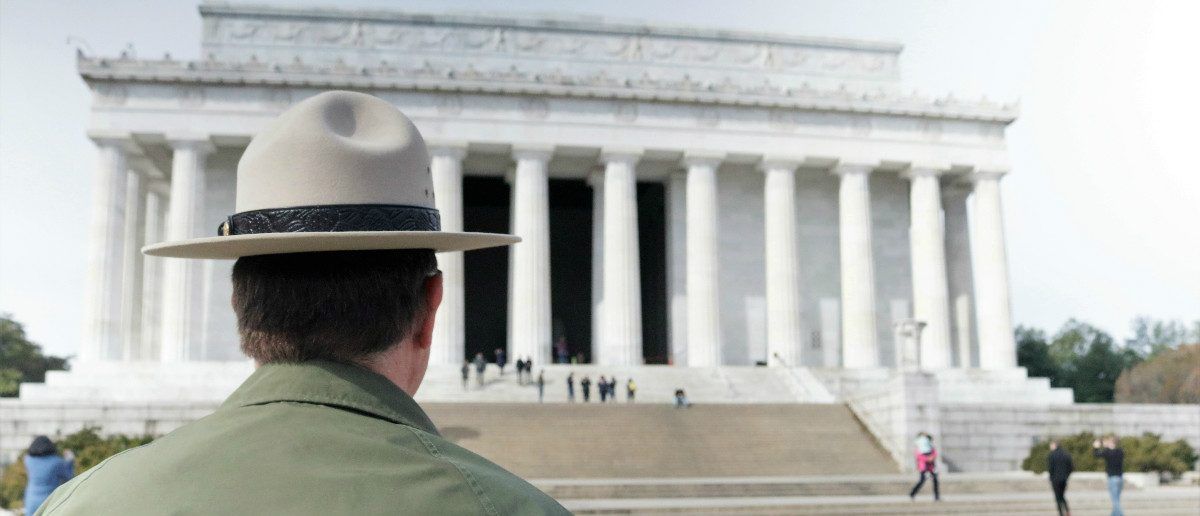 National Park Service official looks towards Lincoln Memorial in Washington, D.C. Feb. 21, 2017: Ted Goodman/TheDCNF