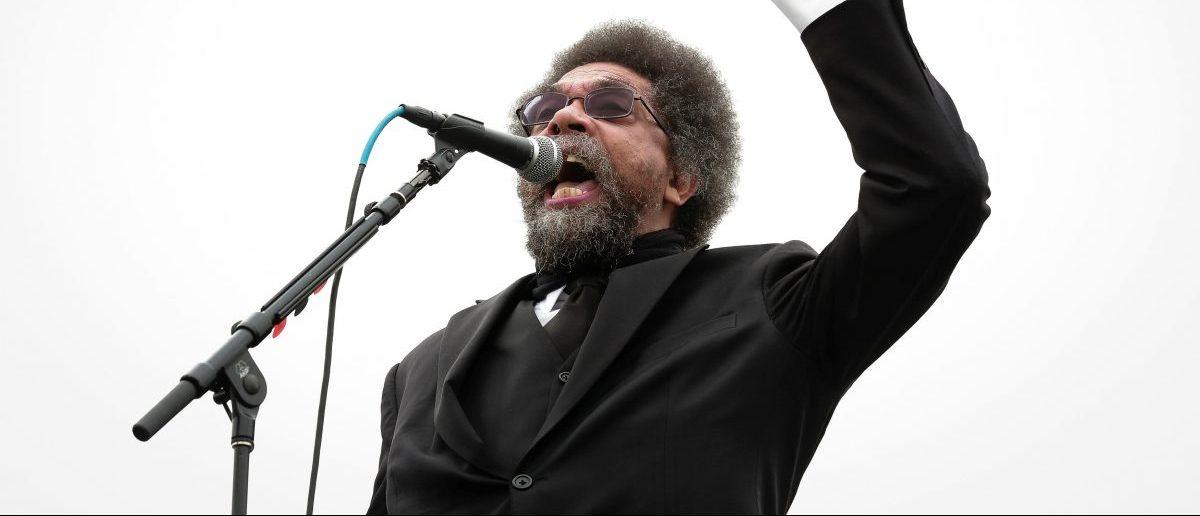 Cornel West speaks at a campaign rally for Democratic U.S. presidential candidate Bernie Sanders in San Francisco, California, U.S. June 6, 2016. REUTERS/Elijah Nouvelage - RTSGBMY
