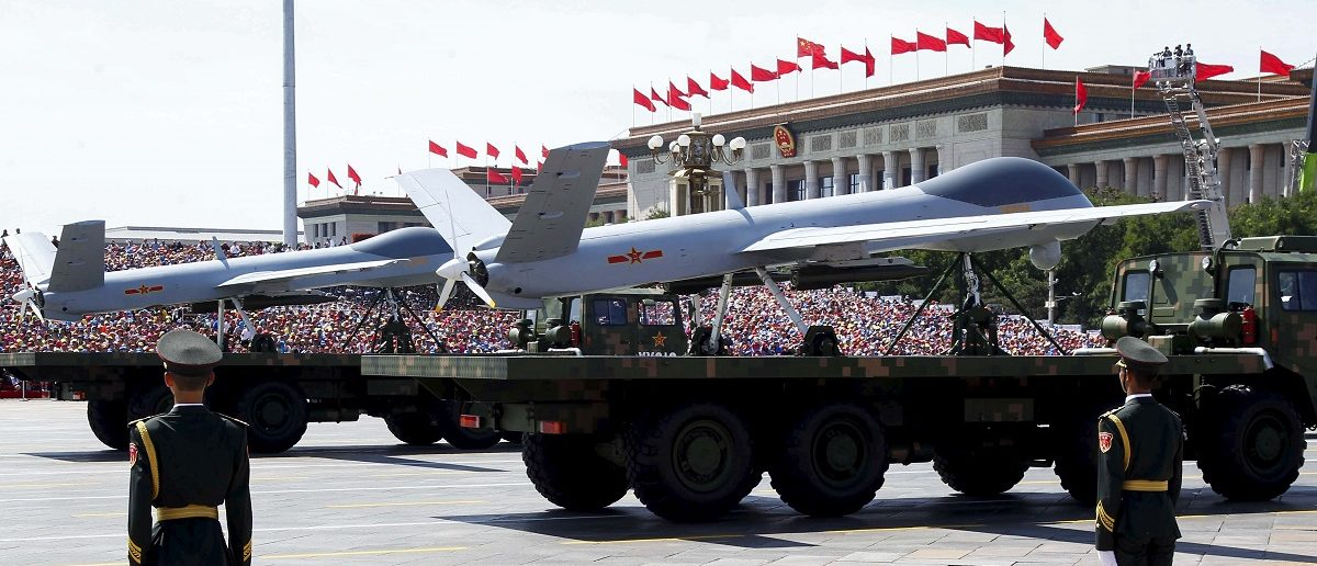 Chinese unmanned aerial vehicles are presented during the military parade marking the 70th anniversary of the end of World War Two, in Beijing, China, September 3, 2015. REUTERS/Rolex Dela Pena/Pool