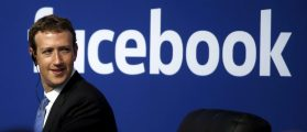 Facebook CEO Mark Zuckerberg is seen on stage during a town hall at Facebook's headquarters in Menlo Park, California September 27, 2015.(Credit: REUTERS/Stephen Lam/File Photo)