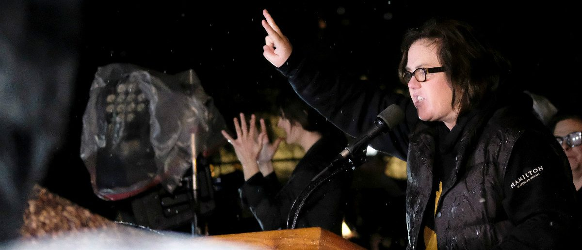 Rosie O'Donnell speaks at a protest rally organized by activists against U.S. President Donald Trump outside the White House in Washington February 28, 2017. REUTERS/James Lawler Duggan