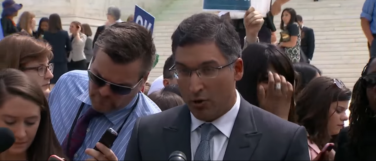 Former Solicitor General Neal Katyal speaks outside the Supreme Court. YouTube screengrab: https://www.youtube.com/watch?v=mlY4ZrD-ihk
