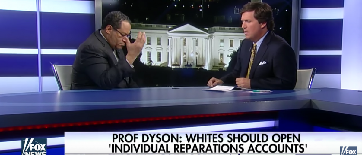 Tucker Carlson challenges Michael Eric Dyson about reparations and white privilege Screenshot, YouTube/FoxNews