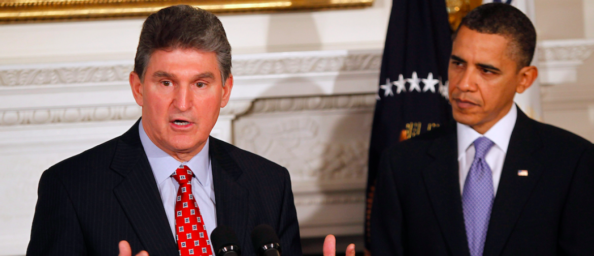 2010West Virginia Governor Joe Manchin speaks alongside U.S. President Barack Obama during a meeting with state governors in the State Dining Room of the White House in Washington, February 22, 2010. REUTERS/Jason Reed(