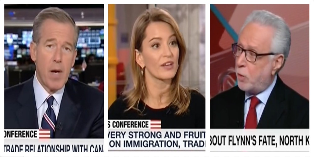 Brian Williams, Katy Tur, Wolf Blitzer (MSNBC, CNN)