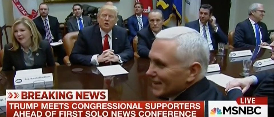 Mike Pence's ear (MSNBC)