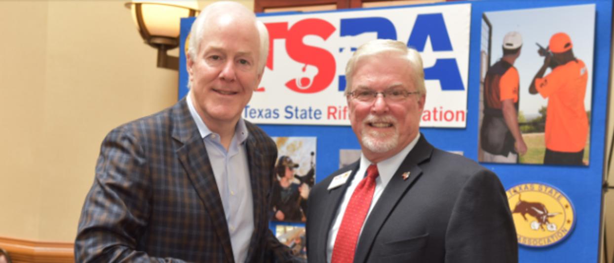TX. Sen. John Cornyn with  TSRA Executive Director Doug DuBois (Photo: Office of Sen. John Cornyn)