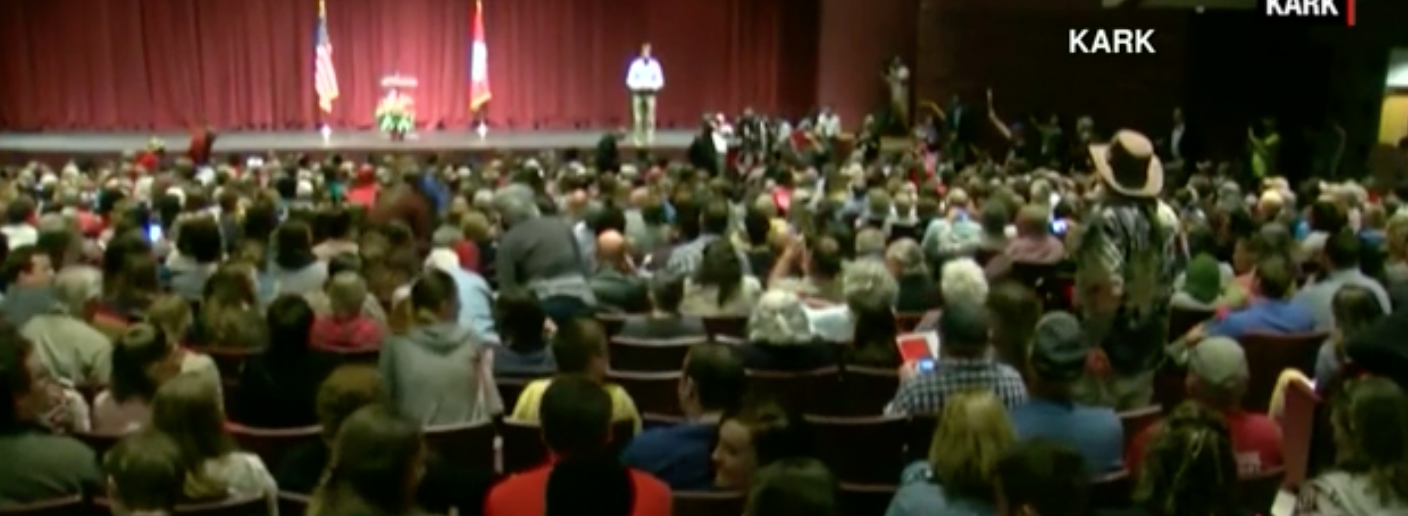 Sen. Tom Cotton Town Hall (CNN video screen grab)