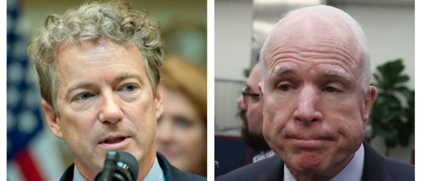 Rand Paul, John McCain (Getty Images)