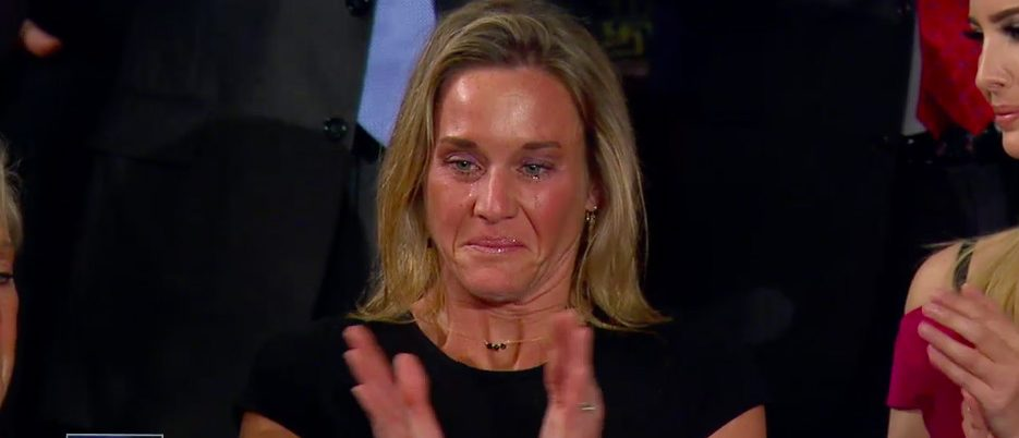 President Trump Recognized A SEAL's Widow -- And There Can't Be A Dry Eye In The Entire Country