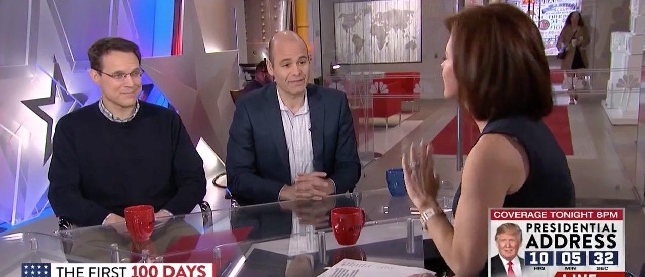 Steve Kornacki, Mike Pesca, Stephanie Ruhle (MSNBC)