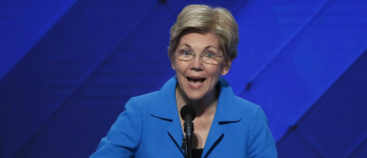 U.S. Senator Elizabeth Warren (D-MA) speaks on the final night of the Democratic National Convention in Philadelphia, Pennsylvania, U.S. July 28, 2016. REUTERS/Mike Segar