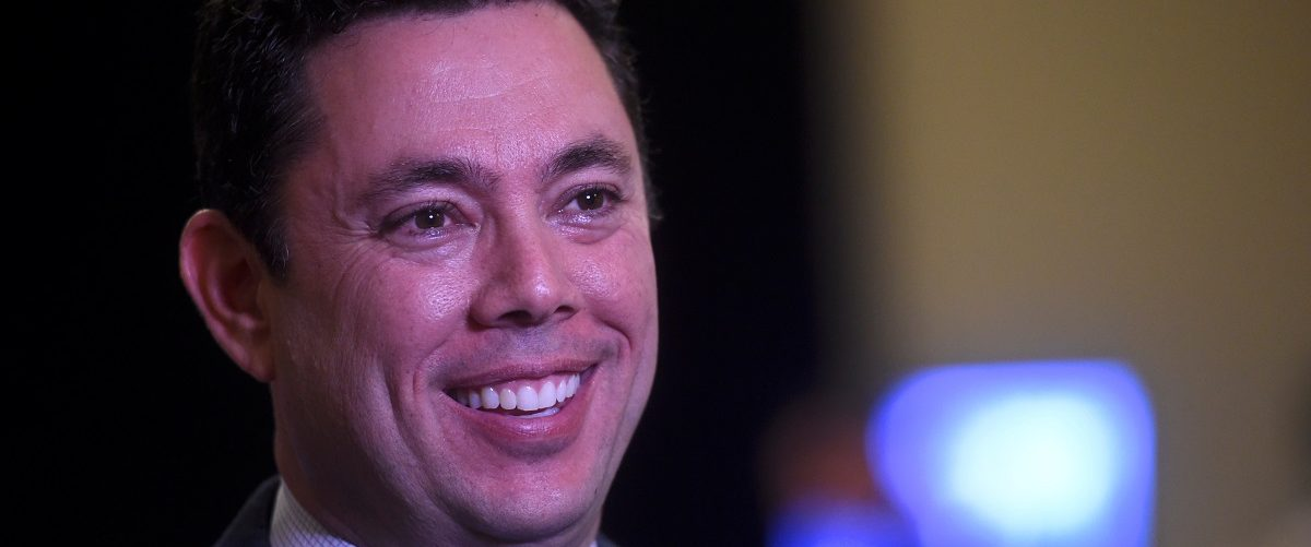 """U.S. Representative Chaffetz is interviewed during the 2017 """"Congress of Tomorrow"""" Joint Republican Issues Conference in Philadelphia"""