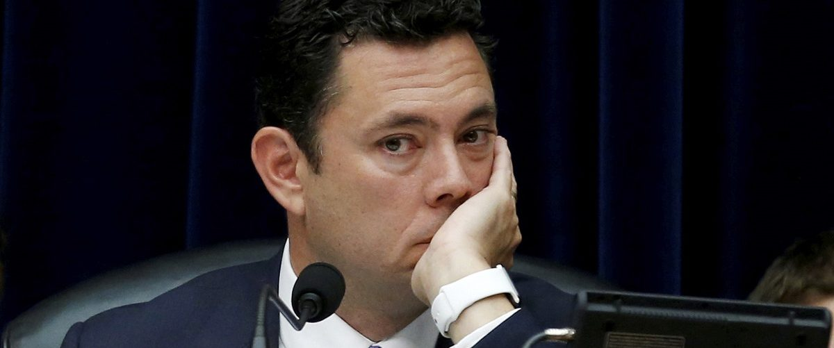 House Oversight and Government Reform Chairman Chaffetz listens during committee hearing on Capitol Hill in Washington