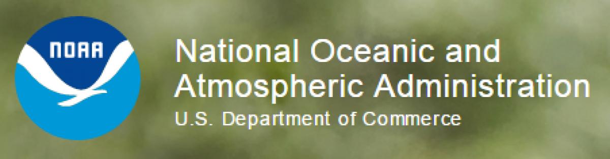 Screenshot of NOAA's website