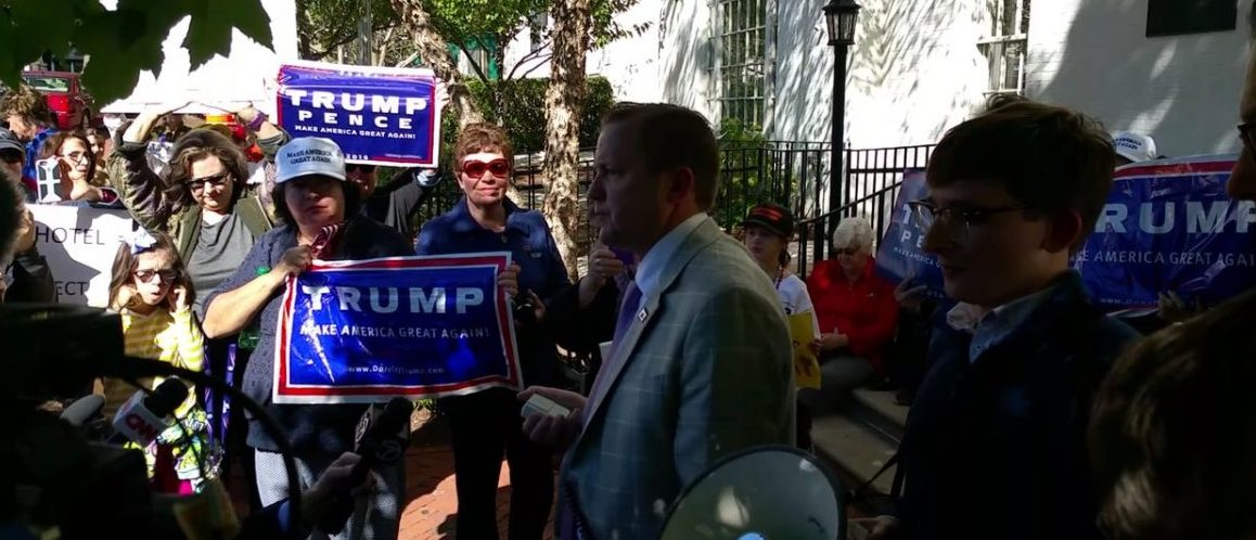 Corey Stewart At Anti-GOP Rally