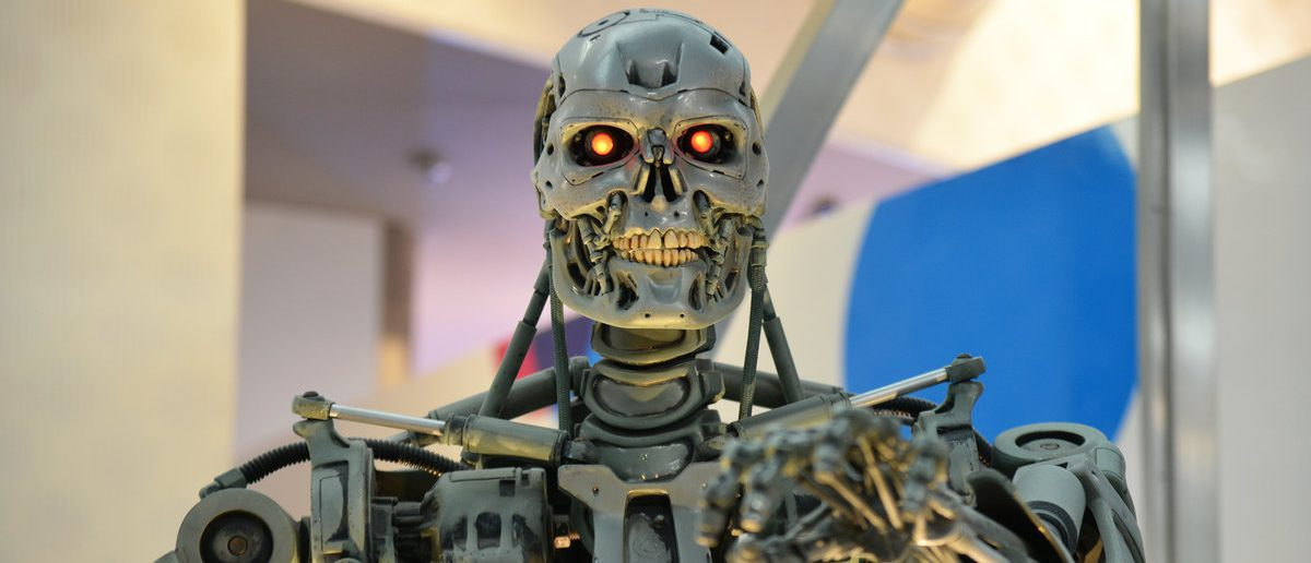 Human Size T-800 Endoskeleton Model from the Terminator 3D in Universal Studios japan (Shutterstock/Sarunyu L)
