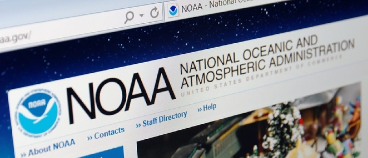 Saransk, Russia - December 12, 2015: A computer screen shows details of NOAA main page on its web site in Saransk, Russia, on December 12 2015. Selective focus. Credit: g0d4ather/Shutterstock