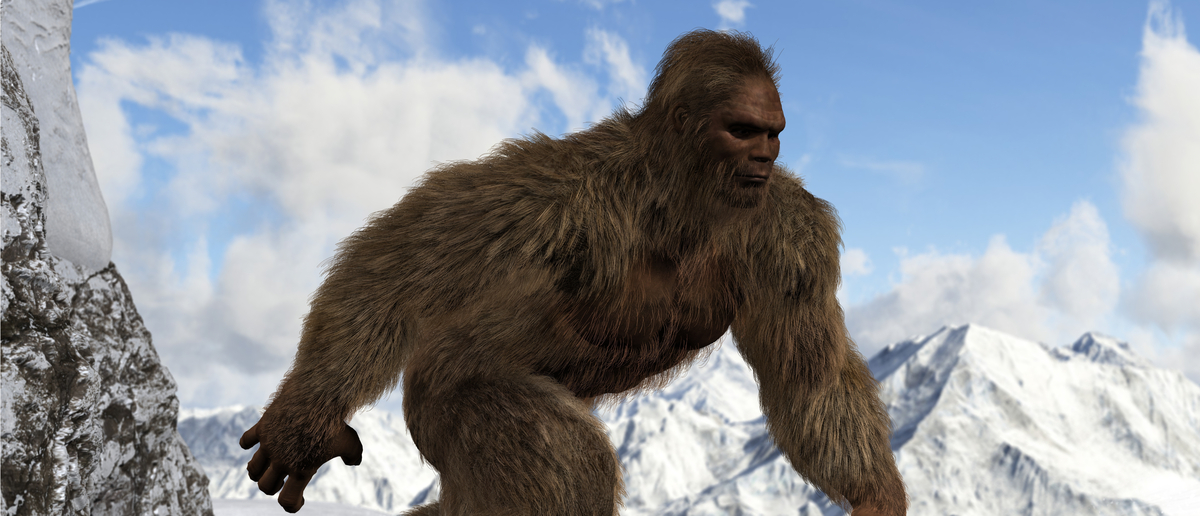 Bigfoot walks through mountain wilderness (Photo: Shutterstock/RikoBest)