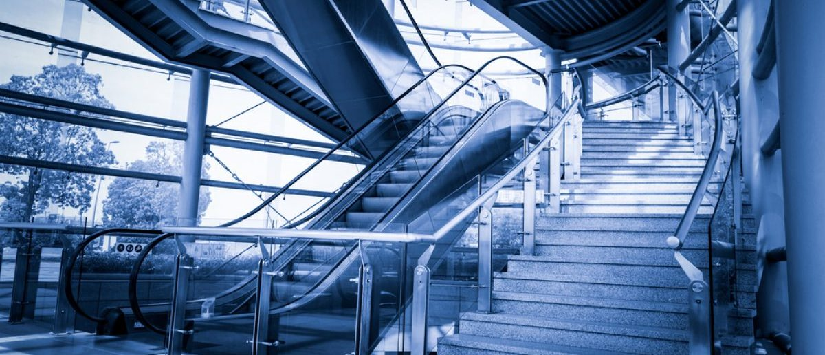 Staircases and escalators. [Shutterstock - John_T]