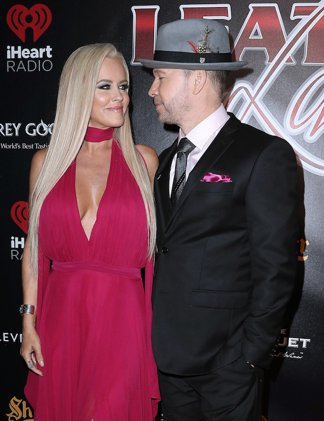 Celebrities attend the 14th Annual Leather & Laces Super Bowl Party. Held at Hughes Manor, Houston, Texas. <P> Pictured: Jenny McCarthy & Donnie Wahlberg <B>Ref: SPL1434648 030217 </B><BR /> Picture by: Photo Image Press<BR /> </P><P> <B>Splash News and Pictures