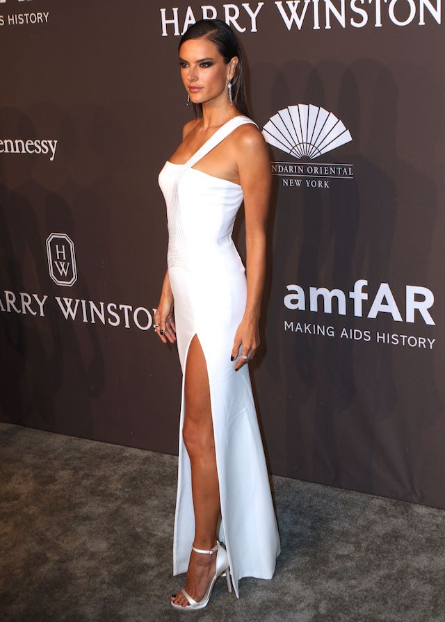 Stars arrive at the amfAR Gala to launch NYFW in New York City, New York. <P> Pictured: Alessandra Ambrosio <B>Ref: SPL1437622 080217 </B><BR /> Picture by: Nancy Rivera / Splash News<BR /> </P><P> <B>Splash News and Pictures<