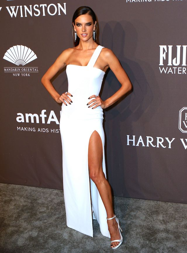 Stars arrive at the amfAR Gala to launch NYFW in New York City, New York. <P> Pictured: Alessandra Ambrosio <B>Ref: SPL1437622 080217 </B><BR /> Picture by: Nancy Rivera / Splash News<BR /> </P><P> <B>Splash News and Pictures