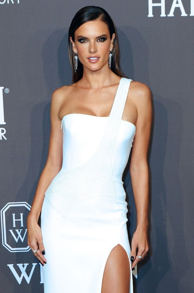 Stars arrive at the amfAR Gala to launch NYFW in New York City, New York. <P> Pictured: Alessandra Ambrosio <B>Ref: SPL1437622 080217 </B><BR /> Picture by: Nancy Rivera / Splash News