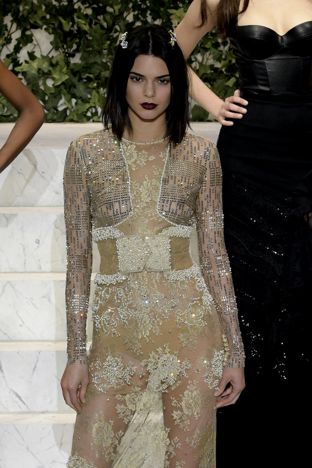 NY LA PERLA Fall Spring 2017 Ready to Wear-Models Kendall Jenner- Naomi Campbell -Joan Smalls- Isabeli Fontana <P> Pictured: Kendall Jenner <B>Ref: SPL1438114 100217 </B><BR /> Picture by: Newspictures†/ Splash News<BR /> </P><P> <B>Splash News