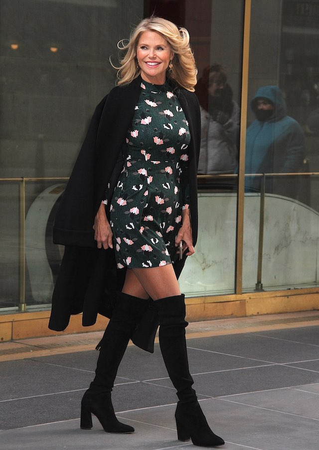 Legendary supermodel Christie Brinkley spotted leaving NBC Studios in NYC's Rockefeller Center following an appearance on the 'Today' show as guest co-host <P> Pictured: Christie Brinkley <B>Ref: SPL1444711 160217 </B><BR /> Picture by: Fortunata/Splash News