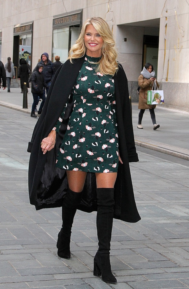 Legendary supermodel Christie Brinkley spotted leaving NBC Studios in NYC's Rockefeller Center following an appearance on the 'Today' show as guest co-host <P> Pictured: Christie Brinkley <B>Ref: SPL1444711 160217 </B><BR /> Picture by: Fortunata/Splash News <BR />