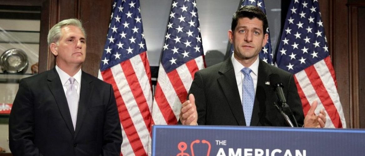 Speaker of the House Paul Ryan (R-WI) and House Majority Leader Kevin McCarthy (R-CA) speak about the American Health Care Act, the Republican replacement to Obamacare, in Washington