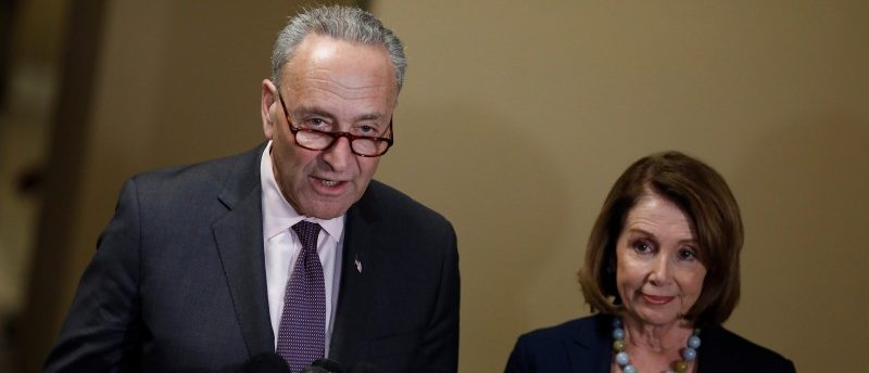 Senate Minority Leader Chuck Schumer and House Minority Leader Nancy Pelosi speak at a news conference about the Congressional Budget Office's report on the American Health Care Act at the Capitol in Washington, D.C., U.S. March 13, 2017. REUTERS/Aaron P. Bernstein