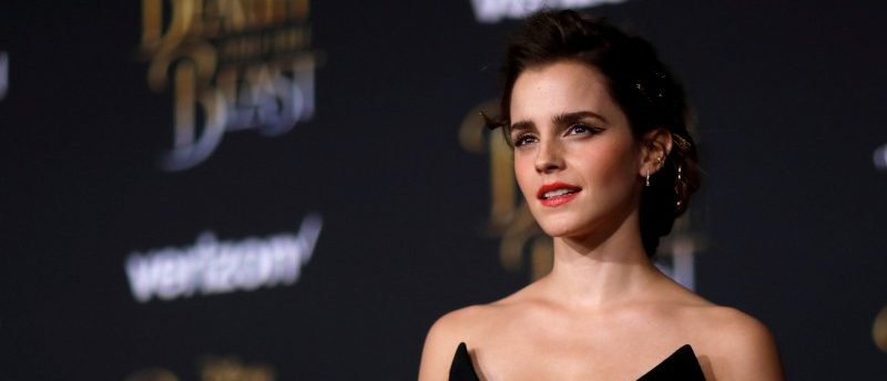 "FILE PHOTO: Cast member Emma Watson poses at the premiere of ""Beauty and the Beast"" in Los Angeles, California, U.S. March 2, 2017. REUTERS/Mario Anzuoni/File Photo"