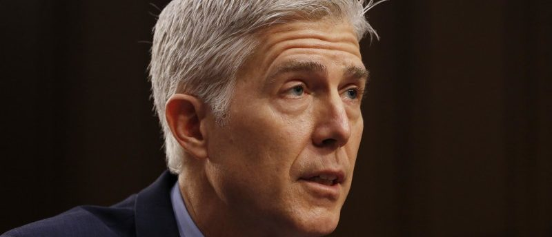 U.S. Supreme Court nominee judge Neil Gorsuch testifies during the second day of his Senate Judiciary Committee confirmation hearing on Capitol Hill in Washington, U.S., March 21, 2017.
