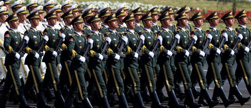 Chinese troops march as they take part in Pakistan Day military parade in Islamabad, Pakistan, March 23, 2017. REUTERS/Faisal Mahmood