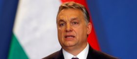 Hungarian Prime Minister Viktor Orban speaks during a news conference following the talks with Russian President Vladimir Putin in Budapest, Hungary, February 2, 2017. REUTERS/Laszlo Balogh