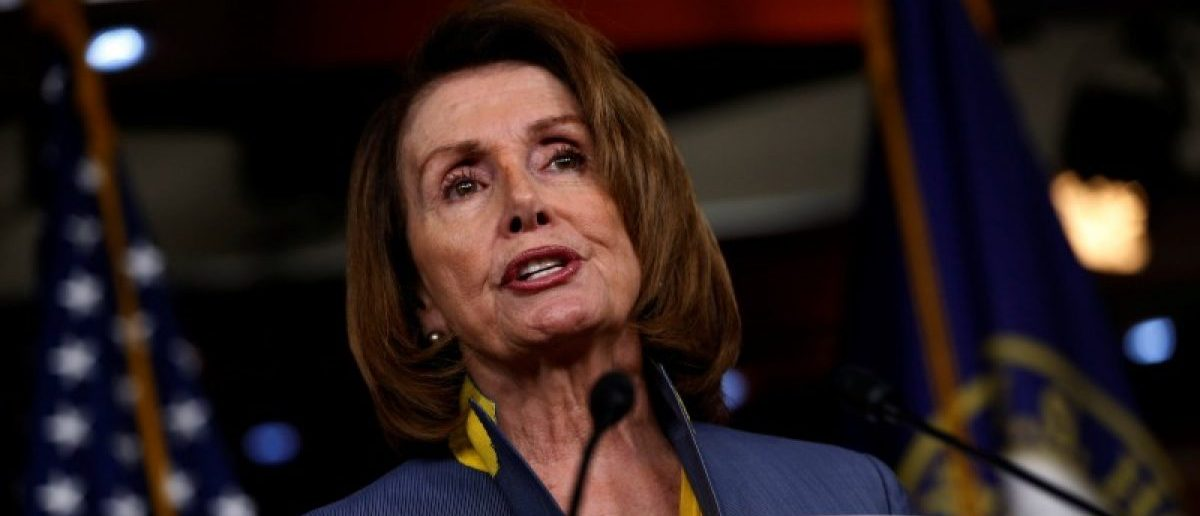 FILE PHOTO: U.S. House Minority Leader Nancy Pelosi (D-CA) holds a news conference at the U.S. Capitol in Washington, U.S., March 23, 2017. REUTERS/Jonathan Ernst
