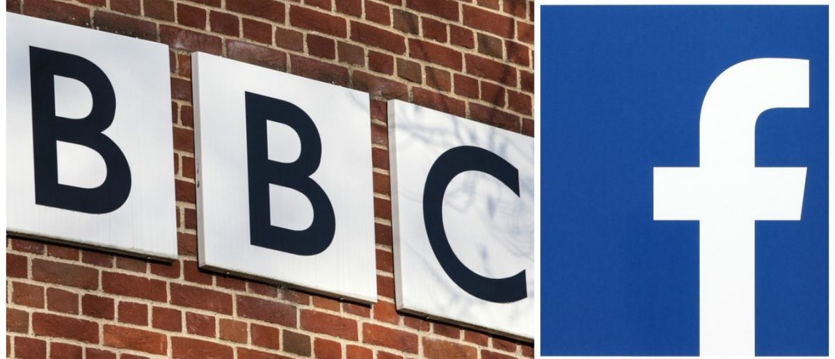 Left: BBC logo. [chrisdorney / Shutterstock.com] Right: Facebook logo. [rvlsoft / Shutterstock.com]