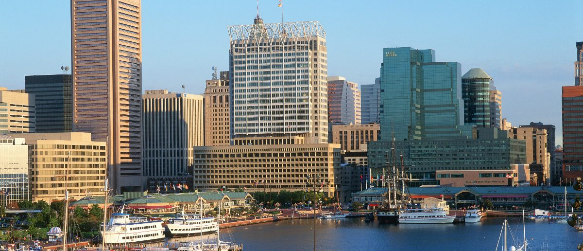 Inner harbor at Baltimore, Maryland: Joseph Sohm/shutterstock