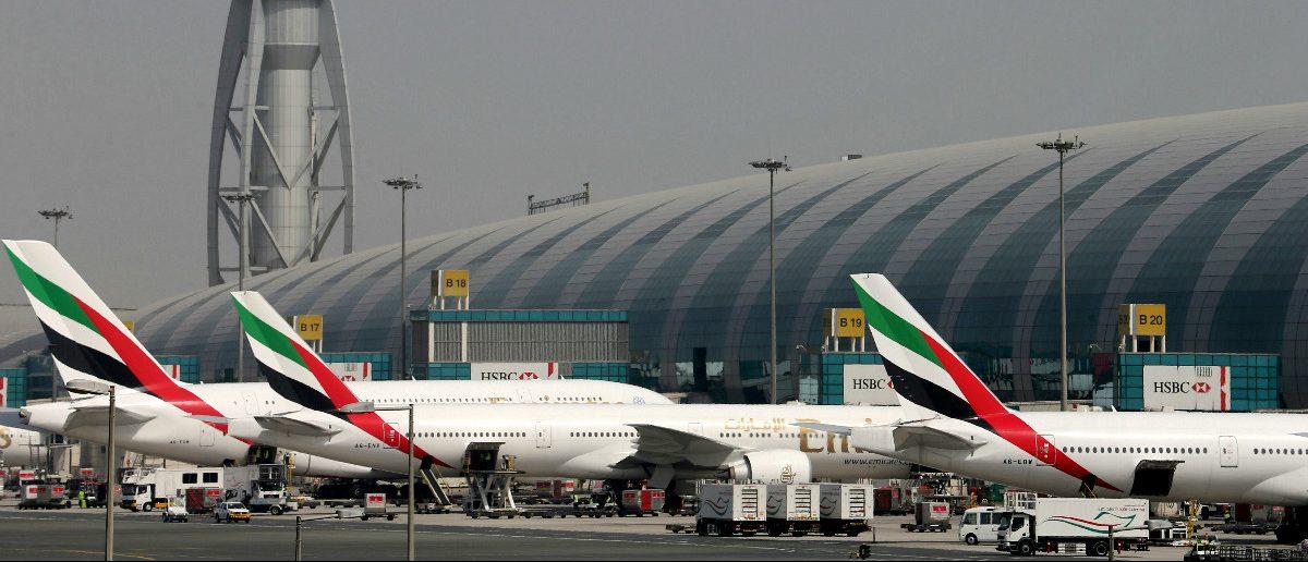 Emirates Airlines aircrafts are seen at Dubai International Airport, United Arab Emirates May 10, 2016. REUTERS/Ashraf Mohammad