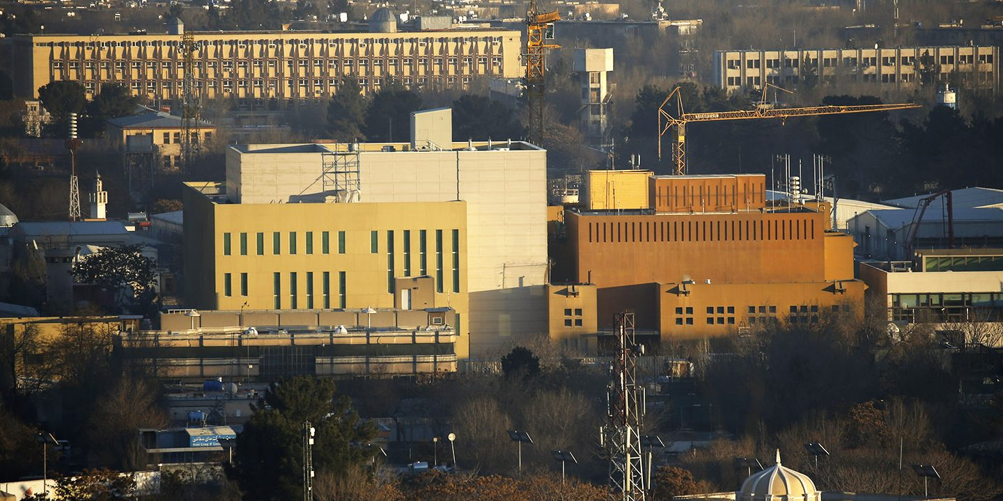View of the U.S. Embassy (front buildings) in Kabul, Afghanistan, January 20, 2016. Picture taken January 20, 2016. (PHOTO:     REUTERS/Omar Sobhani