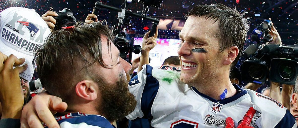 Tom Brady, Julian Edelman (Credit: Getty Images/Tom Pennington)