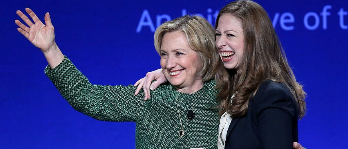 CORAL GABLES, FL - MARCH 07: Hillary Rodham Clinton, Former U.S. Secretary of State and U.S. Senator from New York (L) and her daughter Chelsea Clinton, Vice Chair, Clinton Foundation embrace as they attend the 2015 Meeting of Clinton Global Initiative University at the University of Miami on March 7, 2015 in Coral Gables, Florida. The 2015 Clinton Global Initiative University meeting encourages students to take action on some of the Millennial generations biggest concerns such as the future of energy, the power of big data to address global challenges, and peace-building in the Middle East and North Africa. (Photo by Joe Raedle/Getty Images)