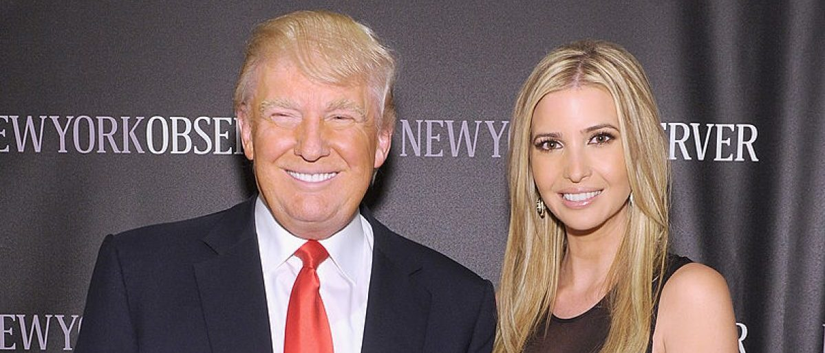 Donald Trump and daughter Ivanka Trump. (Photo by Jamie McCarthy/Getty Images)