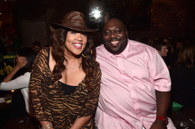 "HOLLYWOOD, CALIFORNIA - APRIL 04: Comedian Kym Whitley (L) and actor Faizon Love attend The World Premiere of Disney's ""THE JUNGLE BOOK"" at the El Capitan Theatre on April 4, 2016 in Hollywood, California. (Photo by Alberto E. Rodriguez/Getty Images for Disney)"