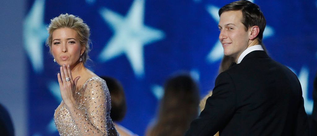 Ivanka Trump and husband Jared Kushner dance at the Freedom Inaugural Ball at the Washington Convention Center January 20, 2017 in Washington, D.C. (Photo by Aaron P. Bernstein/Getty Images)
