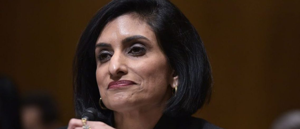 Seema Verma testifies before the Senate Finance Committee on her nomination to be the administrator of the Centers for Medicare and Medicaid Services, in the Dirksen Senate Office Building in Washington, DC, on February 16, 2017. / AFP / Mandel Ngan (Photo credit should read MANDEL NGAN/AFP/Getty Images)