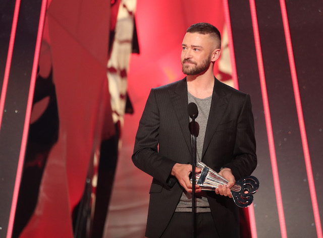 INGLEWOOD, CA - MARCH 05: Musician Justin Timberlake accepts the Song of the Year award for 'Can't Stop the Feeling!' onstage at the 2017 iHeartRadio Music Awards which broadcast live on Turner's TBS, TNT, and truTV at The Forum on March 5, 2017 in Inglewood, California. (Photo by Christopher Polk/Getty Images for iHeartMedia)