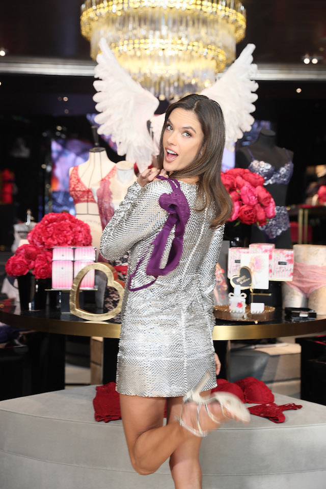 SHANGHAI, CHINA - MARCH 08: Victoria's Secret Angel Alessandra Ambrosio attends the Grand Opening Of Victoria's Secret Shanghai Flagship Store on March 8, 2017 in Shanghai, China. (Photo by Hu Chengwei/Getty Images)